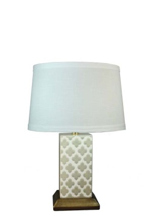 1518 - Transparent Grey Crackle Moraccan Trellis 1 Side